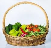 Καλάθι λαχανικών Στοκ φωτογραφίες με δικαίωμα ελεύθερης χρήσης