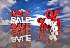 Καλάθι και πωλήσεις αγορών Στοκ φωτογραφίες με δικαίωμα ελεύθερης χρήσης