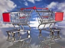Καλάθι και πωλήσεις αγορών Στοκ Εικόνα