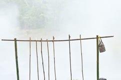 Καλάθι και ραβδί με το καυτό ελατήριο Στοκ εικόνα με δικαίωμα ελεύθερης χρήσης
