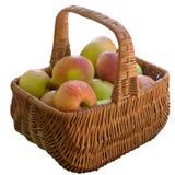 καλάθι μήλων φρέσκο Στοκ φωτογραφία με δικαίωμα ελεύθερης χρήσης