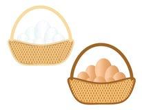 Καλάθι με τα αυγά Στοκ Εικόνες