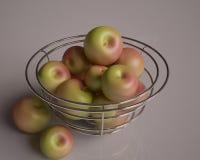 Καλάθι με τα μήλα στοκ εικόνες