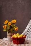 Καλάθι με τα μήλα Στοκ φωτογραφία με δικαίωμα ελεύθερης χρήσης