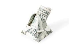 Καλάθι με τα δολάρια στοκ εικόνες