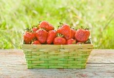 Καλάθι με τις φράουλες Στοκ Εικόνα