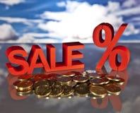Καλάθι, πωλήσεις και χρήματα αγορών Στοκ εικόνες με δικαίωμα ελεύθερης χρήσης
