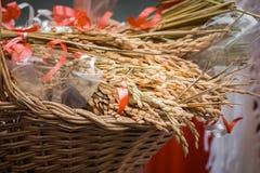 Καλάθι του σιταριού Στοκ φωτογραφίες με δικαίωμα ελεύθερης χρήσης