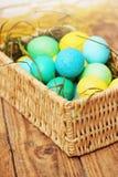 Καλάθι των αυγών Στοκ εικόνες με δικαίωμα ελεύθερης χρήσης