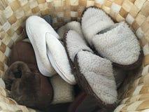 Καλάθι των εσωτερικών παπουτσιών Στοκ Εικόνα