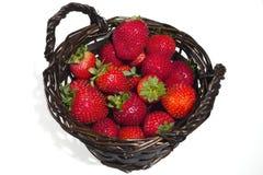 Καλάθι των φραουλών Στοκ Εικόνα