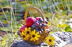 Καλάθι φθινοπώρου Στοκ φωτογραφίες με δικαίωμα ελεύθερης χρήσης