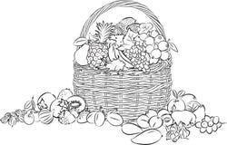 Καλάθι φρούτων στοκ φωτογραφίες με δικαίωμα ελεύθερης χρήσης