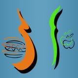 Καλά και κακά τρόφιμα Ελεύθερη απεικόνιση δικαιώματος