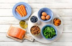 Καλά τρόφιμα για την υγεία ματιών Στοκ Εικόνες