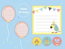 Καλά υπομνήματα γιορτών γενεθλίων καθορισμένα ελεύθερη απεικόνιση δικαιώματος