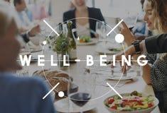 Καλά - όντας έννοια ζωτικότητας διατροφής υγείας άσκησης Στοκ Εικόνες