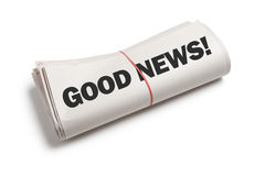 καλές ειδήσεις Στοκ Φωτογραφία