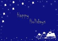 Καλές διακοπές μπλε ευχετήρια κάρτα Στοκ φωτογραφία με δικαίωμα ελεύθερης χρήσης