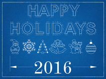 Καλές διακοπές το 2016 - σχεδιάγραμμα Στοκ φωτογραφία με δικαίωμα ελεύθερης χρήσης