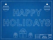 Καλές διακοπές το 2017 - σχεδιάγραμμα Στοκ Εικόνα