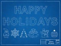 Καλές διακοπές το 2017 - σχεδιάγραμμα Στοκ φωτογραφία με δικαίωμα ελεύθερης χρήσης