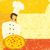καλές μυρωδιές πιτσών αρχιμαγείρων Στοκ φωτογραφία με δικαίωμα ελεύθερης χρήσης