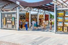 Καλές Τέχνες αγοράς σε Vernissage του πάρκου Museon της Μόσχας Στοκ Φωτογραφίες