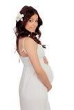 Καλή έγκυος γυναίκα με ένα όμορφο φόρεμα Στοκ φωτογραφίες με δικαίωμα ελεύθερης χρήσης