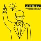 Καλή αφίσα επιχειρησιακής ιδέας Στοκ Εικόνες