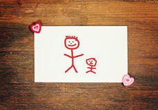 Καλή ευχετήρια κάρτα - ευτυχής ημέρα πατέρων Στοκ Εικόνες