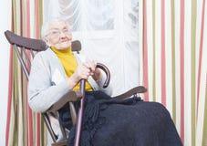 Καλή ηλικιωμένη κυρία στοκ φωτογραφίες