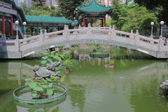 Καλή θρησκεία Sik Sik Yuen Wong Tai Sin Temple κήπων επιθυμίας Στοκ Φωτογραφίες