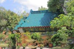 Καλή θρησκεία Sik Sik Yuen Wong Tai Sin Temple κήπων επιθυμίας Στοκ Φωτογραφία