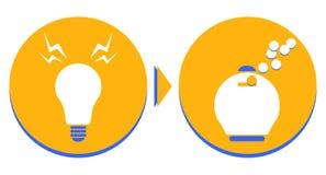 Καλή ιδέα, καλή επιχείρηση Στοκ εικόνες με δικαίωμα ελεύθερης χρήσης