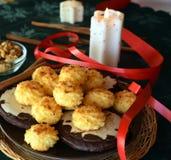Καλή στενή επάνω εικόνα των μπισκότων καρύδων Χριστουγέννων Στοκ φωτογραφίες με δικαίωμα ελεύθερης χρήσης