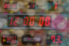 2015 καλή χρονιά ένα υπόβαθρο με τις ψηφιακές ώρες στοκ φωτογραφίες