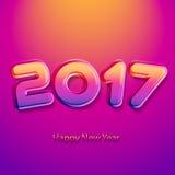Καλή χρονιά 2017 Διανυσματική ανασκόπηση Στοκ Εικόνες