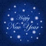 καλή χρονιά Διανυσματική απεικόνιση διακοπών μπλε snowflakes ανασκόπησης άσπρος χειμώνας στοκ φωτογραφίες