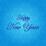καλή χρονιά Διανυσματική απεικόνιση διακοπών μπλε snowflakes ανασκόπησης άσπρος χειμώνας Στοκ Εικόνες