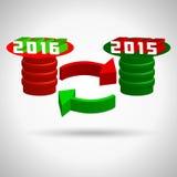 2016, καλή χρονιά, διακοπές Χαρούμενα Χριστούγεννας απεικόνιση αποθεμάτων