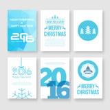 Καλή χρονιά 2016 και διάνυσμα Χαρούμενα Χριστούγεννας απεικόνιση αποθεμάτων