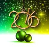 2016 καλή χρονιά και υπόβαθρο Χαρούμενα Χριστούγεννας ελεύθερη απεικόνιση δικαιώματος