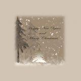 καλή χρονιά και Χαρούμενα Χριστούγεννα Στοκ εικόνα με δικαίωμα ελεύθερης χρήσης