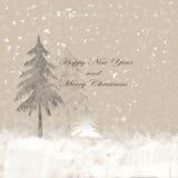 Καλή χρονιά και Χαρούμενα Χριστούγεννα Στοκ Εικόνες