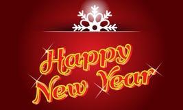 Καλή χρονιά με τα φω'τα νέου και δημιουργικό snowflake Στοκ φωτογραφία με δικαίωμα ελεύθερης χρήσης