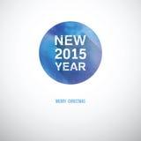 Καλή χρονιά μια άσπρη πηγή σε έναν κύκλο υδατοχρώματος Στοκ Φωτογραφίες