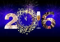 Καλή χρονιά 2016 πυροτεχνήματα απεικόνιση αποθεμάτων