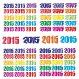 Καλή χρονιά 2015 σχέδια κειμένων - διανυσματικό σύνολο του 2015 Στοκ φωτογραφία με δικαίωμα ελεύθερης χρήσης
