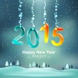 Καλή χρονιά το 2015 και διακοσμεί με τα φω'τα Χριστουγέννων Στοκ φωτογραφία με δικαίωμα ελεύθερης χρήσης